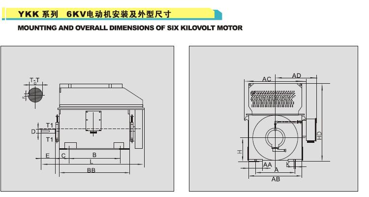 Y、YKK、YKS系列高压高效三相异步电动机是本厂研制的最新产品,秉承锦龙电机的以惯的高品质和高可靠性风格,在设计上,借鉴国外先进技术,采用诸多新结构和优质原材料,具有高效节能、噪声低、震动小、运行可靠、安装维护方便的优点。